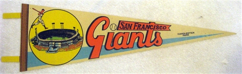 "1961 SAN FRANCISCO GIANTS ""CANDLESTICK PARK"" PENNANT"