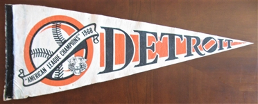 1968 DETROIT TIGERS AMERICAN LEAGUE CHAMPIONS PENNANT