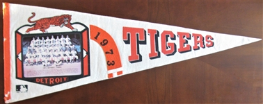 1973 DETROIT TIGERS TEAM PICTURE PENNANT