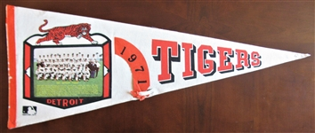 1971 DETROIT TIGERS TEAM PICTURE PENNANT