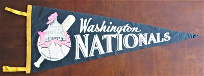 50s WASHINGTON NATIONALS PENNANT
