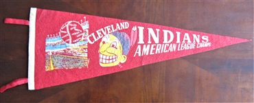 1954 CLEVELAND INDIANS AMERICAN LEAGUE CHAMPS PENNANT