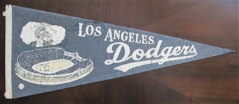 "RARE - 1958 LOS ANGELES DODGERS ""A NEW HOME"" FULL SIZE PENNANT"