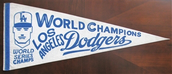 80s LOS ANGELES DODGERS WORLD SERIES PENNANT