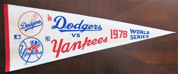 1978 LA DODGERS vs NY YANKEES WORLD SERIES PENNANT