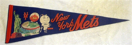60s NEW YORK METS PENNANT w/STATUE OF LIBERTY
