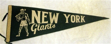 50s NEW YORK GIANTS PENNANT - RARE!