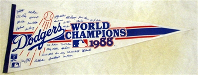 "1988 LOS ANGELES DODGERS ""WORLD CHAMPIONS"" PENNANT"