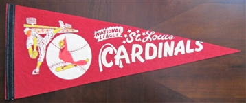 "60s ST LOUIS CARDINALS ""NATIONAL LEAGUE"" FULL SIZE PENNANT"