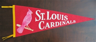 60s ST LOUIS CARDINALS FULL SIZE PENNANT