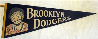 50s BROOKLYN DODGERS PENNANT