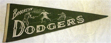 40s BROOKLYN DODGERS PENNANT