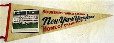 "1962 NEW YORK YANKEES ""PHOTO"" PENNANT- CHAMPIONS"