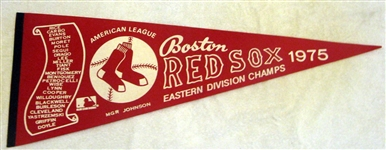 "1975 BOSTON RED SOX ""ALCS"" PENNANT"