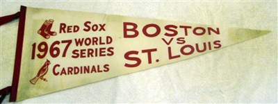 1967 WORLD SERIES PENNANT - RED SOX VS CARDINALS