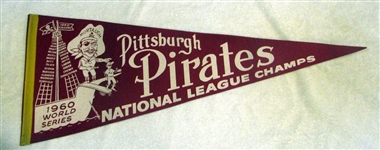 "1960 PITTSBURGH PIRATES ""WORLD SERIES"" PENNANT"