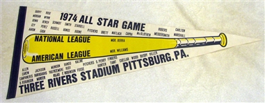 1974 ALL-STAR GAME PENNANT @ PITTSBURGH