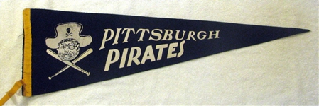 50s PITTSBURGH PIRATES PENNANT