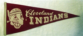 "50s CLEVELAND INDIANS ""CHIEF WAHOO"" PENNANT"