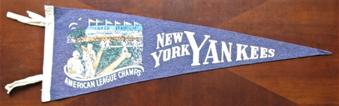 30s NEW YORK YANKEES 3/4 PENNANT