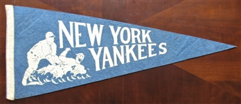 50s NEW YORK YANKEES FULL SIZE PENNANT