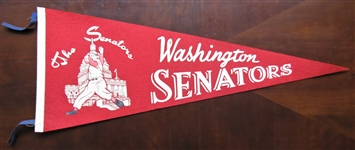 60s WASHINGTON SENATORS BASEBALL PENNANT
