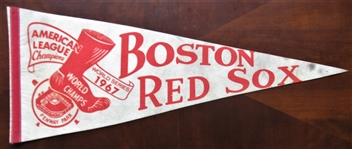 1967 BOSTON REDSOX WORLD SERIES BASEBALL PENNANT