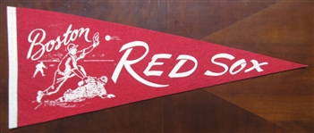 50s BOSTON RED SOX BASEBALL PENNANT