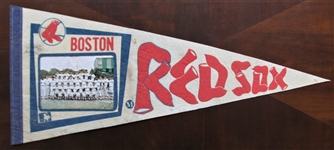 1973 BOSTON RED SOX TEAM PICTURE BASEBALL PENNANT