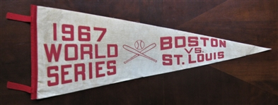 1967 BOSTON RED SOX vs ST LOUIS CARDINALS WORLD SERIES PENNANT