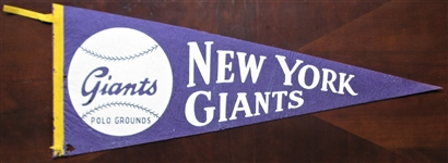 50s NEW YORK GIANTS BASEBALL PENNANT