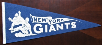 40s NEW YORK GIANTS BASEBALL PENNANT
