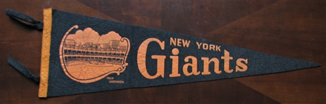 50s NEW YORK GIANTS 3/4 BASEBALL PENNANT