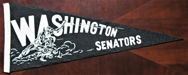 50s WASHINGTON SENATORS BASEBALL PENNANT