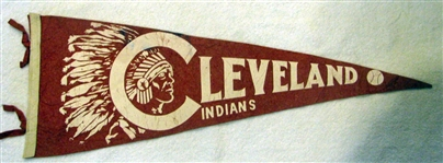 40s CLEVELAND INDIANS PENNANT