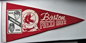 "60s BOSTON RED SOX ""TONY & BILLY CONIGLIARO"" PENNANT"
