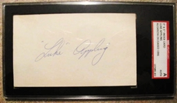 LUKE APPLING SIGNED 3X5 INDEX CARD - SGC SLABBED & AUTHENTICATED