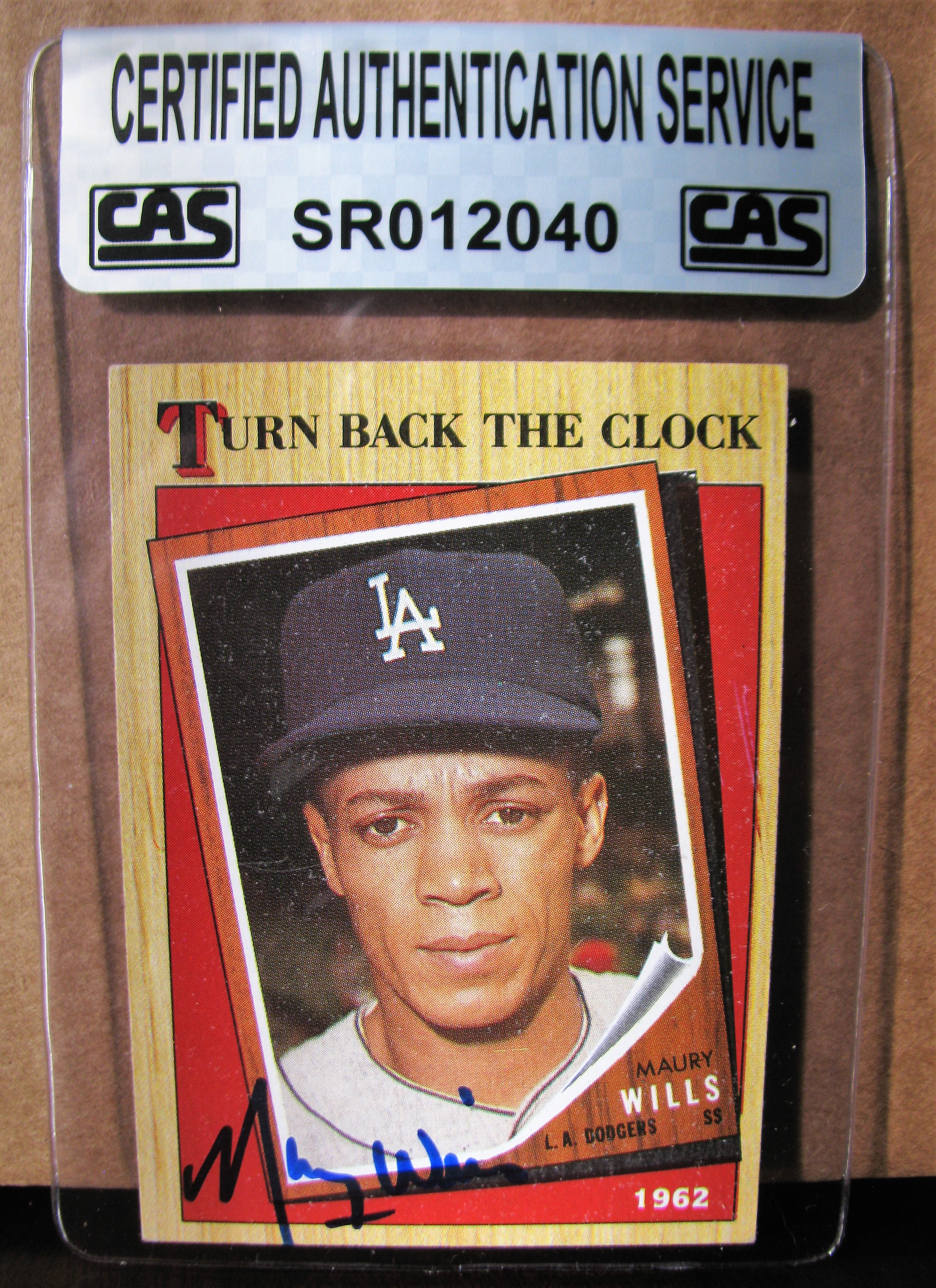 Lot Detail Maury Wills Signed Baseball Card Cas Authenticated