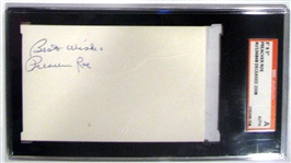 PREACHER ROE SIGNED INDEX CARD - SGC SLABBED AND AUTHENTICATED