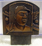 WILLIE McCOVEY SIGNED HOF PLAQUE PIN w/JSA COA