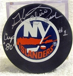 "CHICO RESCH SIGNED ""NEW YORK ISLANDERS"" PUCK w/SGC COA"
