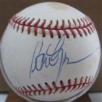 PETER GAMMONS SIGNED BASEBALL w/JSA COA