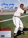 "LARRY DOBY SIGNED 8"" x 10"" PHOTO w/CAS COA"