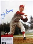 "JIM BUNNING SIGNED 8"" x 10"" PHOTO w/CAS COA"