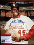"BOB GIBSON SIGNED 8"" x 10"" PHOTO w/CAS COA"