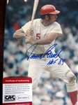 "JOHNNY BENCH SIGNED 8"" x 10"" PHOTO w/CAS COA"