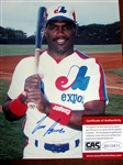 "TIM RAINES SIGNED 8"" x 10"" PHOTO w/CAS COA"