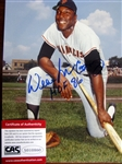 "WILLIE MCCOVEY HOF 86 SIGNED 8"" x 10"" PHOTO w/CAS COA"