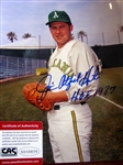 "JIM CATFISH"" HUNTER SIGNED 8"" x 10"" PHOTO w/CAS COA"