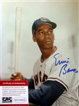 "ERNIE BANKS SIGNED 8"" x 10"" PHOTO w/CAS COA"